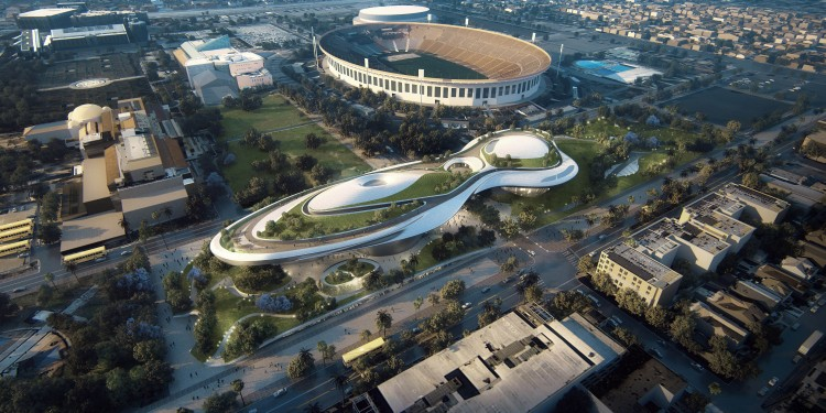 Lucas Museum of Narrative Art_LA_aerial_low res