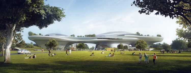 Lucas Museum of Narrative Art_LA_aerial_low res_LA_low res