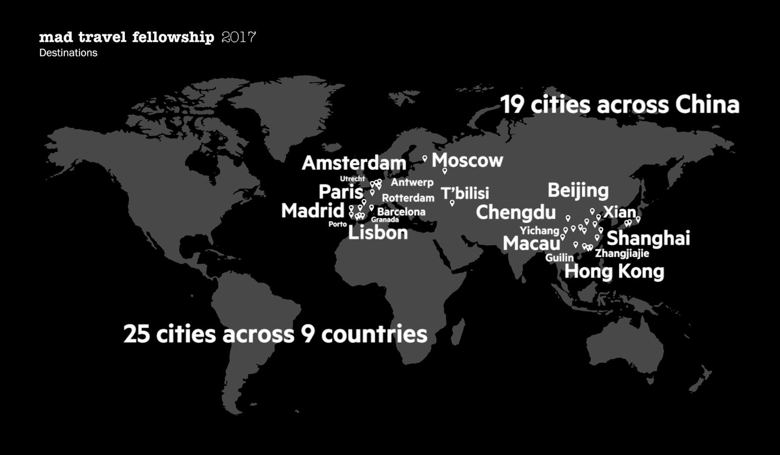 MAD_2017 Travel Fellowship Travel Map