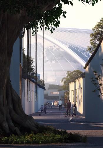500年历史的古榕树在方案中得以保留