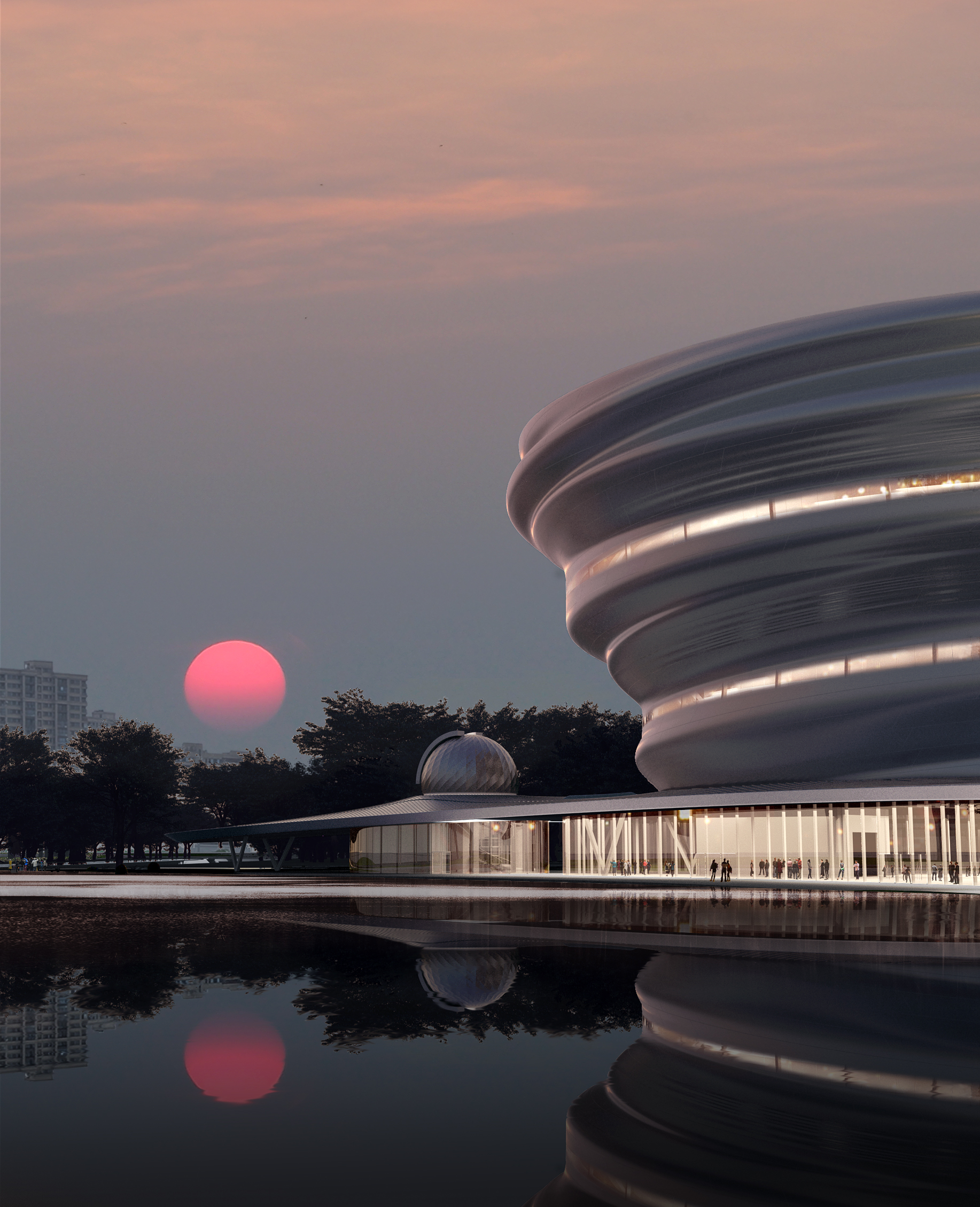 01_MAD_Hainan Science and Technology Museum_sunset view