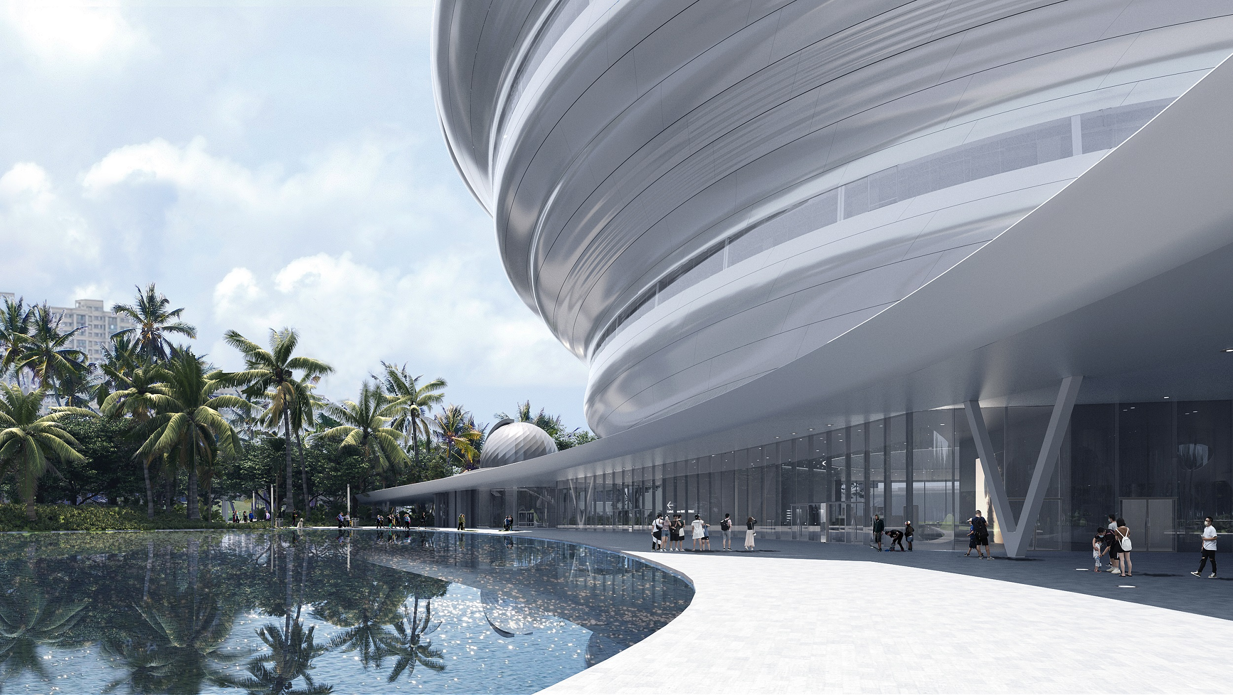 15_MAD_Hainan Science and Technology Museum_canopy grey space