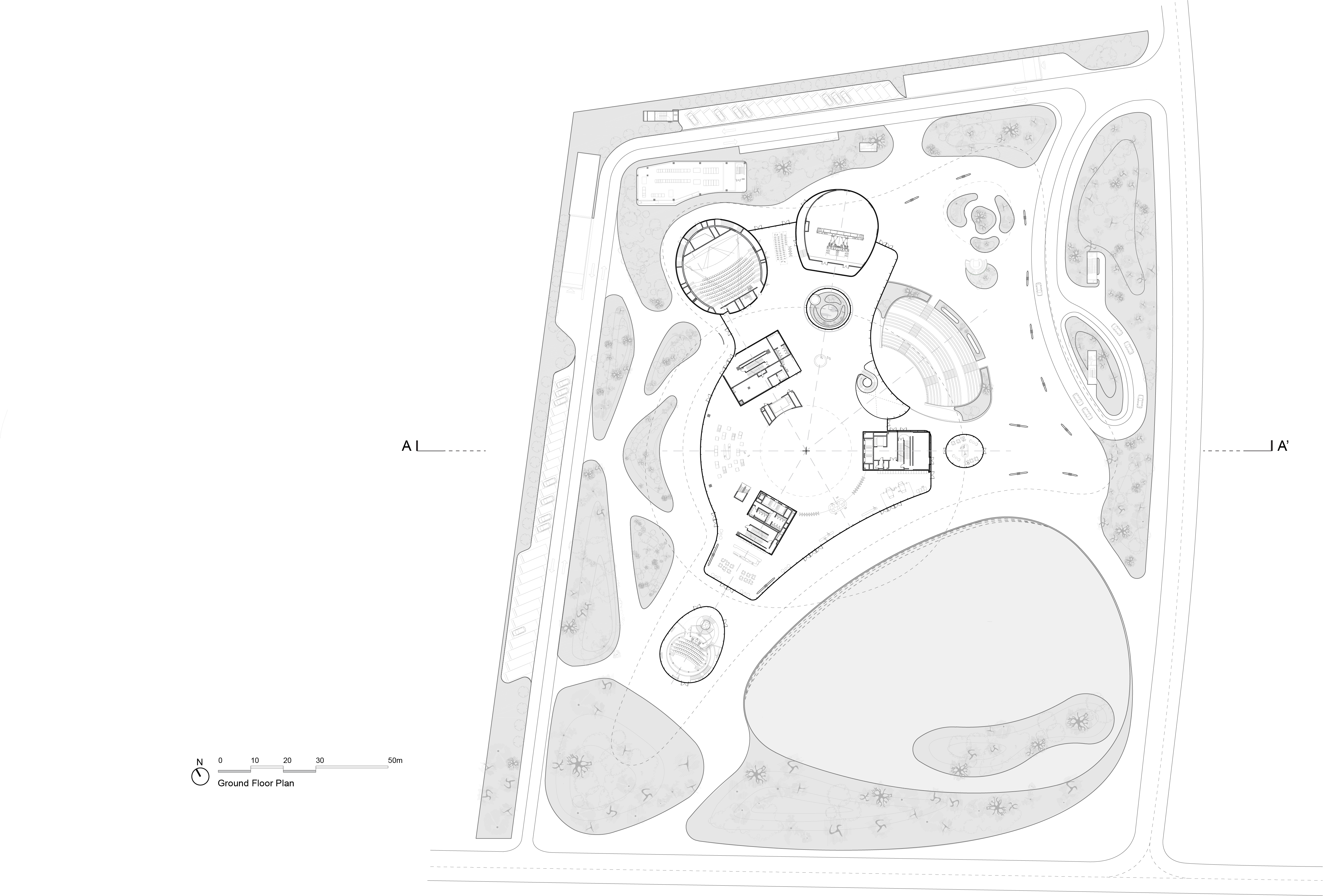 MAD_Hainan Science and Technology Museum_1st Floor Plan