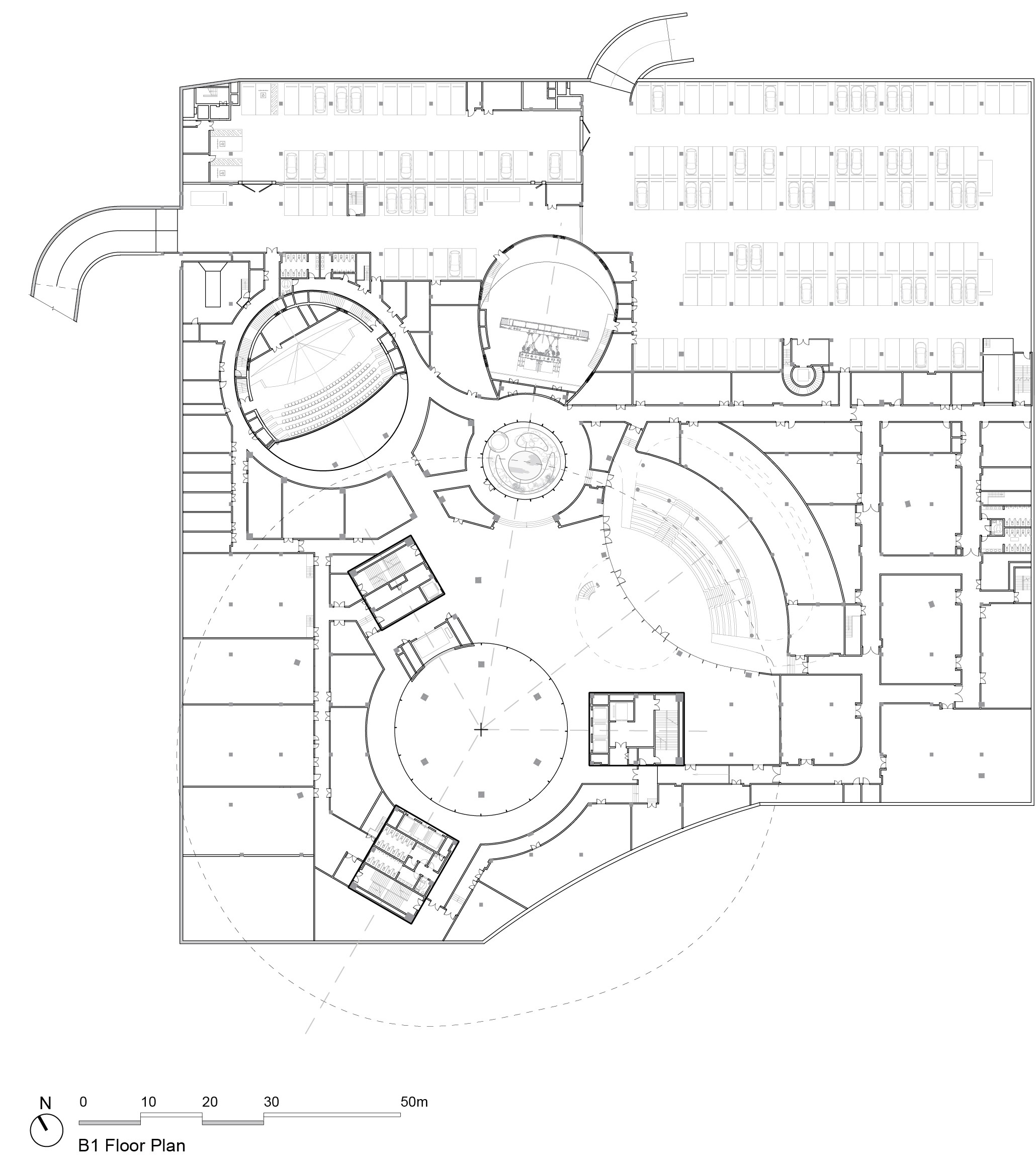 MAD_Hainan Science and Technology  Museum_B1 Floor Plan