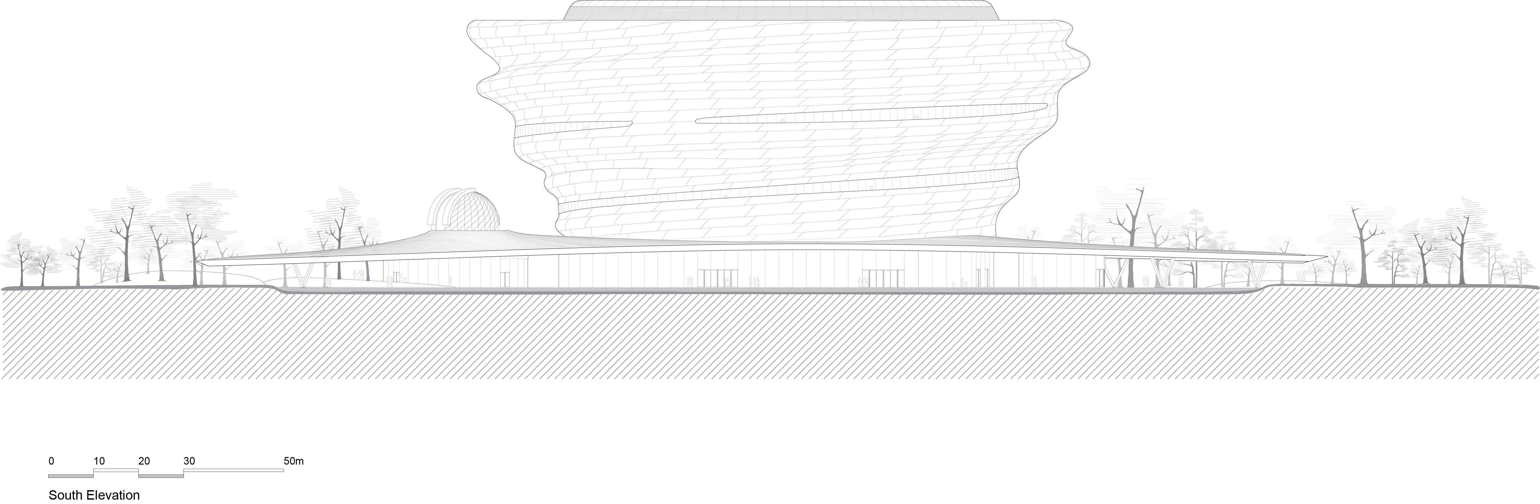 MAD_Hainan Science and Technology  Museum_South Elevation